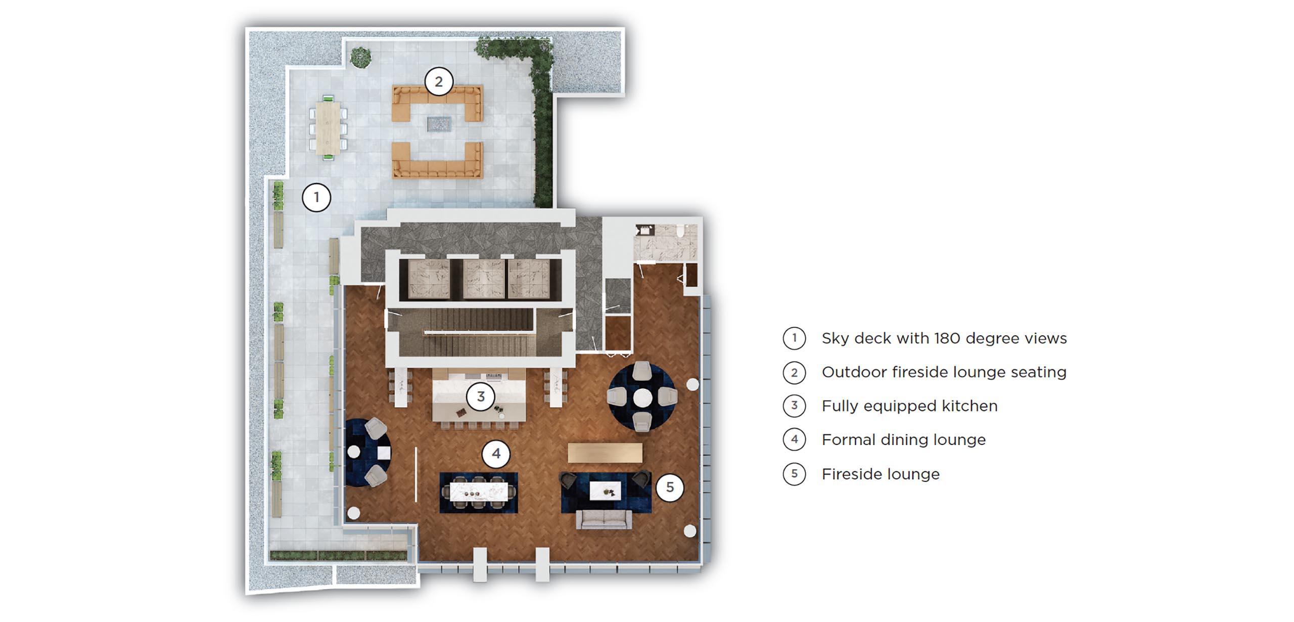 51st floor amenities